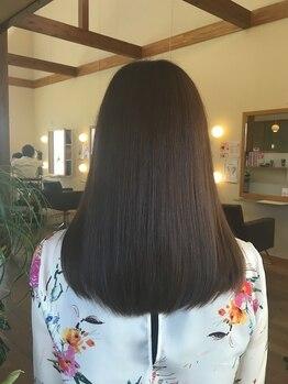 ビアンカ 髪にやさしい美容室(bianca)の写真/【美濃加茂】『頭皮にやさしいヘアカラー(S)¥7020~』髪や地肌に優しい☆スキンケア発想のヘアカラー★