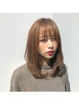 ニュートラル ドア(NEUTRAL DOOR)『NEUTRAL DOOR 岩田』大人カワイイ/小顔/グレージュ