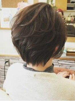 """トレフル 和泉中央店(Trefle)の写真/360°綺麗な美フォルム&再現性が魅力☆髪質・骨格を計算し、""""伸びてきても可愛い""""styleを叶えます◎"""