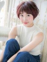 【シエル松戸】スローカラーピンクレッド小顔ショートマッシュb
