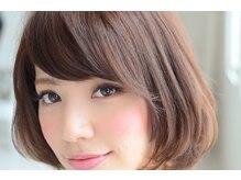 カット+根元カラー¥4860/カット+全体カラー¥6561 美髪ケアと低刺激オーガニックカラーが◎