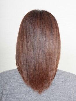 美容室 エスカールの写真/さらさらしっとり、自然で柔らかい憧れストレートヘアを実現!【美髪ストレート+カット+TR ¥17496⇒¥13000】