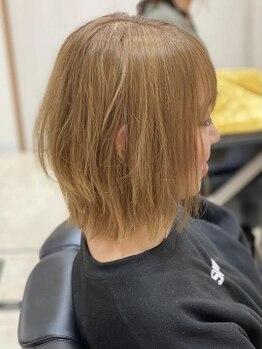 ヴィオ(hair make ViHo)の写真/【学割U24クーポン有★】プチプライスで学生さんも通いやすい価格設定が嬉しい!丁寧な施術で理想のStyleに*