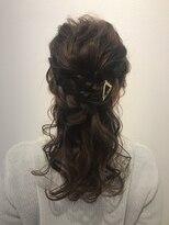 ヘアーリゾートラシックアールプラス(hair resort lachiq R+)《R+》あみこみハーフアップ
