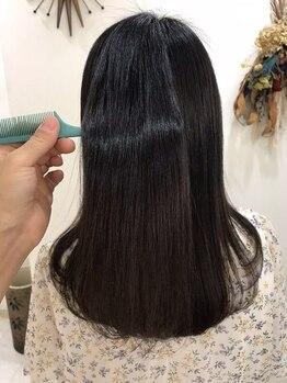 ヘアーメイクピージェートゥー(Pj2)の写真/画期的な縮毛矯正《シルクストレート》♪髪と頭皮に優しい薬剤使用で「ダメージレス」に艶めく髪が叶う♪