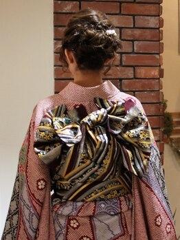 ミネット(Minette)の写真/アナタの大切な日を《Minette》で…☆浴衣から振袖、訪問着まで対応可。着付けとヘアセットの同時予約も◎