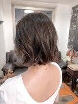ナナナパレナ 心斎橋店(nanana parena)切りっぱなしAラインボブマロンベージュ艶髪