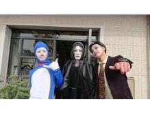 アヴァカブヘアライフ(avacab HAIR LIFE)の雰囲気(ハロウィンの日は三人で仮装して営業してます! )