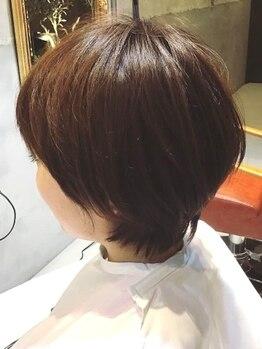 """メルシー(Merci atelier salon)の写真/""""メルシー""""で季節感のあるStyleを手に入れて♪毛先までしっかり繊細カットで扱いやすくセットが楽に◎"""