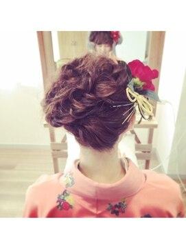 結婚式 和装 髪型 クスキ(hair salon KUSUKI)卒業式セット