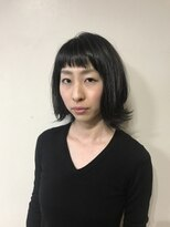 ビューメゾン(BEAU MAISON)【伸ばしかけOK】黒髪切りっぱなしボブ