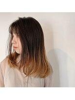 ヘアーサロン オーツー(HAIR SALON O+O)デザインカラーと相性がいい柔らか艶髪ロングレイヤー