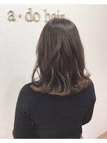アドゥーヘアー(A do hair)lob style