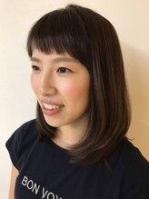 美容室 ラウレア短めバンクで美人顔に大変身。