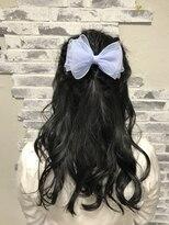 ポッシュ 原宿店(HAIR&MAKE POSH)リボンハーフアップ
