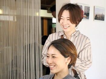 ライズヘアーブランド 宝塚中山店(RISE HAIR BRAND)の写真/忙しい大人女性の強い味方!朝の時短スタイリングをご提案。「毎日キレイにお洒落でいたい」が叶うサロン♪