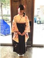 蒲田abilityhair 卒業式 袴着付け 編み込みサイドスタイル