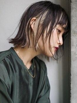 ビビト(bibito)の写真/髪型に合わせてインナーカラーやエアタッチ等バリエーション豊富なテクニックで新しいヘアカラーをご提案!
