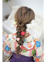リサ 恵比寿(risa.)袴と合わせても可愛い編み下ろし*