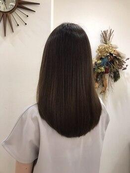 ヘアーメイクピージェートゥー(Pj2)の写真/《サイエンスアクア取り扱い店舗》美髪エステと呼ばれるトリートメントで、憧れのサラ艶髪が叶えられる…☆