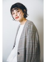 マウロア(MAULOA)【MAULOA】シースルーレイヤー ミニボブ モテ髪パーマ 黒髪