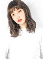 ヘアサロンガリカアオヤマ(hair salon Gallica aoyama)『 ショートバング 』&『 クセ毛 』グレージュカラー ミディ☆