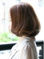ネーブル(NAVEL)ゆるふわCカール縮毛矯正のボブ