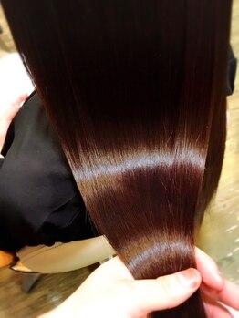 ヘアーフィックス リュウアジア 越谷店(hair fix RYU Asia)の写真/【効果絶大】ナノスチームeos(エオス)トリートメントで潤いツヤ髪に!効果を実感して下さい!!今なら50%OFF