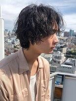 【December】かきあげルードセンターパート サイドシルエット