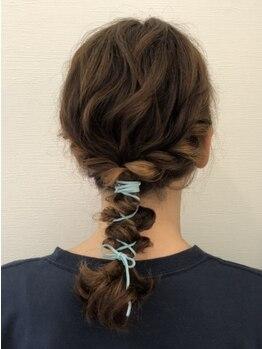 アメイジングヘアー 中沢店(AMAZING HAIR)の写真/人気!【デザインカラー¥11000】結んで分かるくらいのカラー使いがお洒落★旬のデザインもお任せ♪