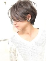 【lamp池袋オザキ】前髪長めハンサムショート/THORWモノトーン