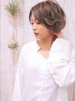 +animo吉川美南+ひし形シルエット☆丸みショートボブ♪f-2