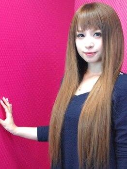 エクステアンドカラー ティアラ(teara)の写真/【新規/最高級AAA人毛エクステ50本(編み込み)¥8900】発色の良い様々なエクステをMIXしたこだわりのエクステ