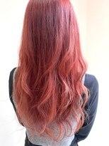 レーヴ(Reve)long hair×orange red color【レーヴ】