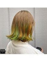 ヘアメイクミワ(HAIR+MAKE MIWA) unicorn color OR×YE×GR