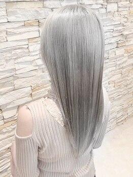 アロマ ヘアー ルーム 新宿店(AROMA hair room)の写真/【ホワイトブリーチ】ファイバープレックス+カラー+Tr¥10000/ファイバープレックス+カラー+TOKIO¥13500