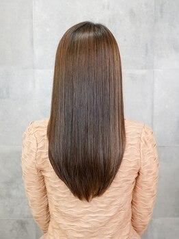 オーブ ヘアー リヒト 松本店(AUBE HAIR licht)の写真/髪の悩みを解消!!クセが気になる方は、毛先まで自然なストレートを創るAUBE HAIRの縮毛矯正で美髪に♪