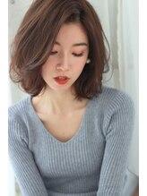 ドアベルヘアリビング(Door Bell hair Living)ラフカール☆タンバルモリミディアムボブ
