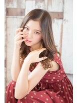 エリア(area)【area本店 西大島】大人可愛い センターパート 無造作 ミディ☆