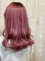 リゾートフォーヘアー 嵯峨店(ReSORT FOR HAIR)ライトピンクカラー