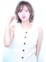 ディシェル(DISHEL)透明感あるデザインカラー☆ひし形シルエット小顔ショート