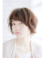 ヘアーサロン セル(Hair Salon CELL)甘辛ミックス スウィングショート 毛先パーマ