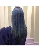 ヴァーチェ ヘアー(Virche hair)ダブルカラー(ブリーチ+サファイアカラーダブルカラー)