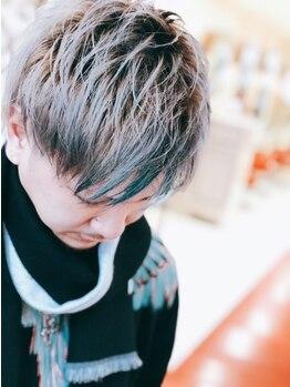 ヘアデザイン アンジェリク(HAIR DESIGN ANGELIQUE)の写真/【シャープでワイルドにこだわり有り】1人1人に似合わせたカット技術と絶妙な束感が好感度UP♪