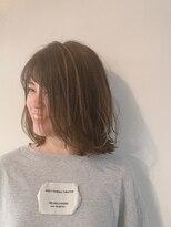 ヘアーサロン オーツー(HAIR SALON O+O)デザインカラーを活かすツヤ髪愛されミディ
