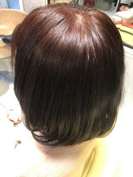 ニュープレイス(NEWPLACE)の写真/髪や頭皮に優しく、あなたの魅力をぐっと引き出す心躍るStyleに![白髪染め/グレイカラー/根元染め]