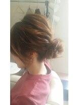 ヘアールーム ネーネ(hair room ne ne)暑い夏にぴったり♪ おだんごアレンジ