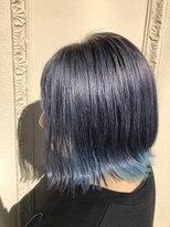 ヘアーメイク アフィーノ(hair make affino)コバルトブルー