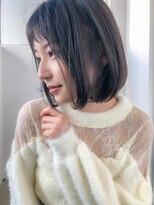 アコロン(acoron)小顔×黒髪×オリーブカラー×ハイライトカラー×イルミナ3