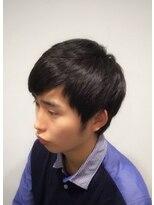 トコヤ ニュースタンダード オブ メンズヘアサロン(tokoya)バングアップショートスタイルのビフォー